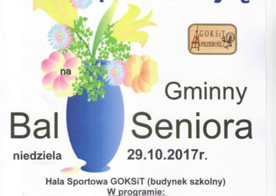 Plakat Bal Seniora 2017