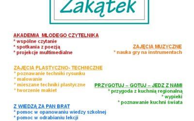 """Klub dzieci i młodzieży """"ZAKĄTEK"""""""