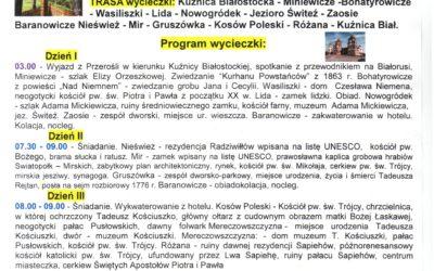 Wycieczka Białoruś – Śladami Wielkich Polaków